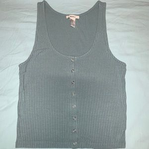 Forever 21 ribbed button-front tank top